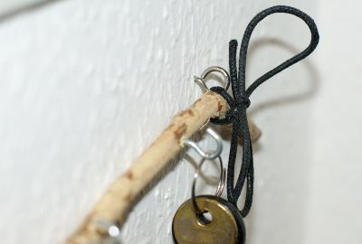 Schlüsselzweig-Befestigung